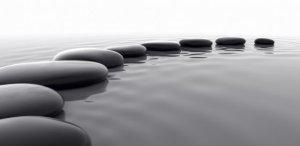 open circle of stones