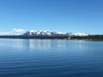Yellowstone Lake and Tetons