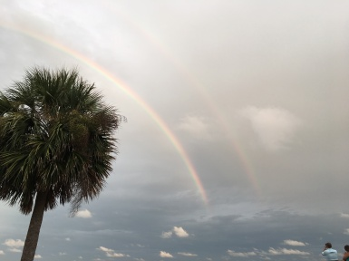 Double Rainbow over the Atlantic