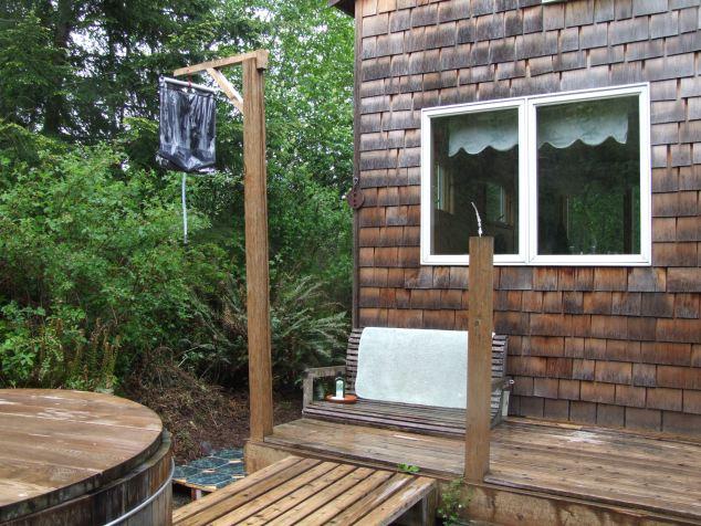 Solar shower I rigged up